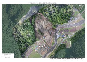180415耶馬渓山崩れオルソ画像300dpiのサムネイル